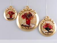 Набор из 3-х декоративных панно Цветы 623-112