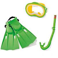 Набор для плавания Intex, (ласты 55937: (38-40) 24-26см, маска, трубка),