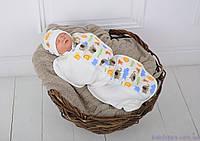 """Пеленка кокон для новорожденных Half на молнии с шапочкой, """"Сафари"""", для деток 3-6 мес., фото 1"""