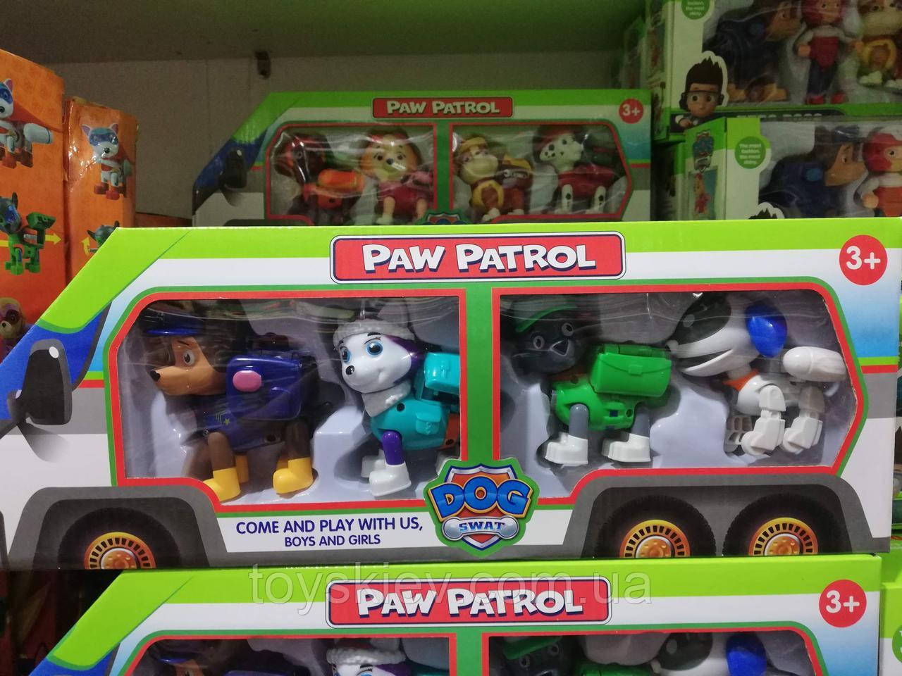 Paw Patrol Щенячий патруль 4 персонажа.