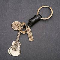 Брелок Гитара L-12см бронза