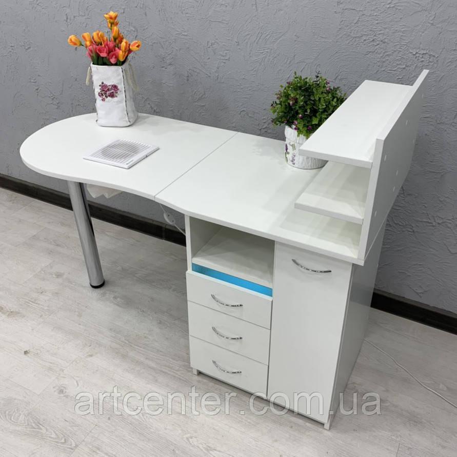 Складной стол для маникюра с УФ блоком и вытяжкой