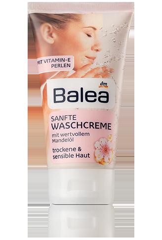 Balea мягкий очищающий крем с Миндальным маслом для сухой и чувствительной кожи Sanfte Waschcreme 150ml