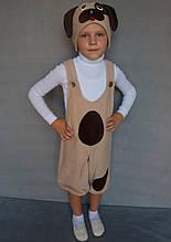 Карнавальный костюм Собачка №1 (бежевый)