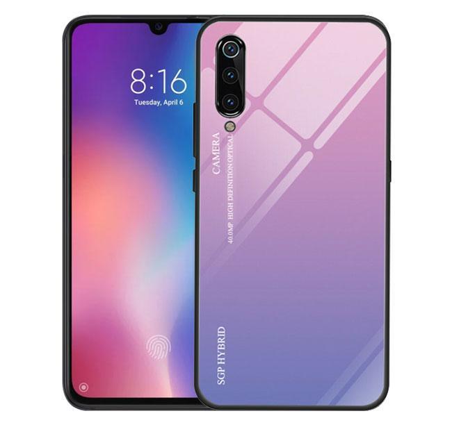 Чохол бампер Primo Gradient Glass для Xiaomi Mi 9 - Pink