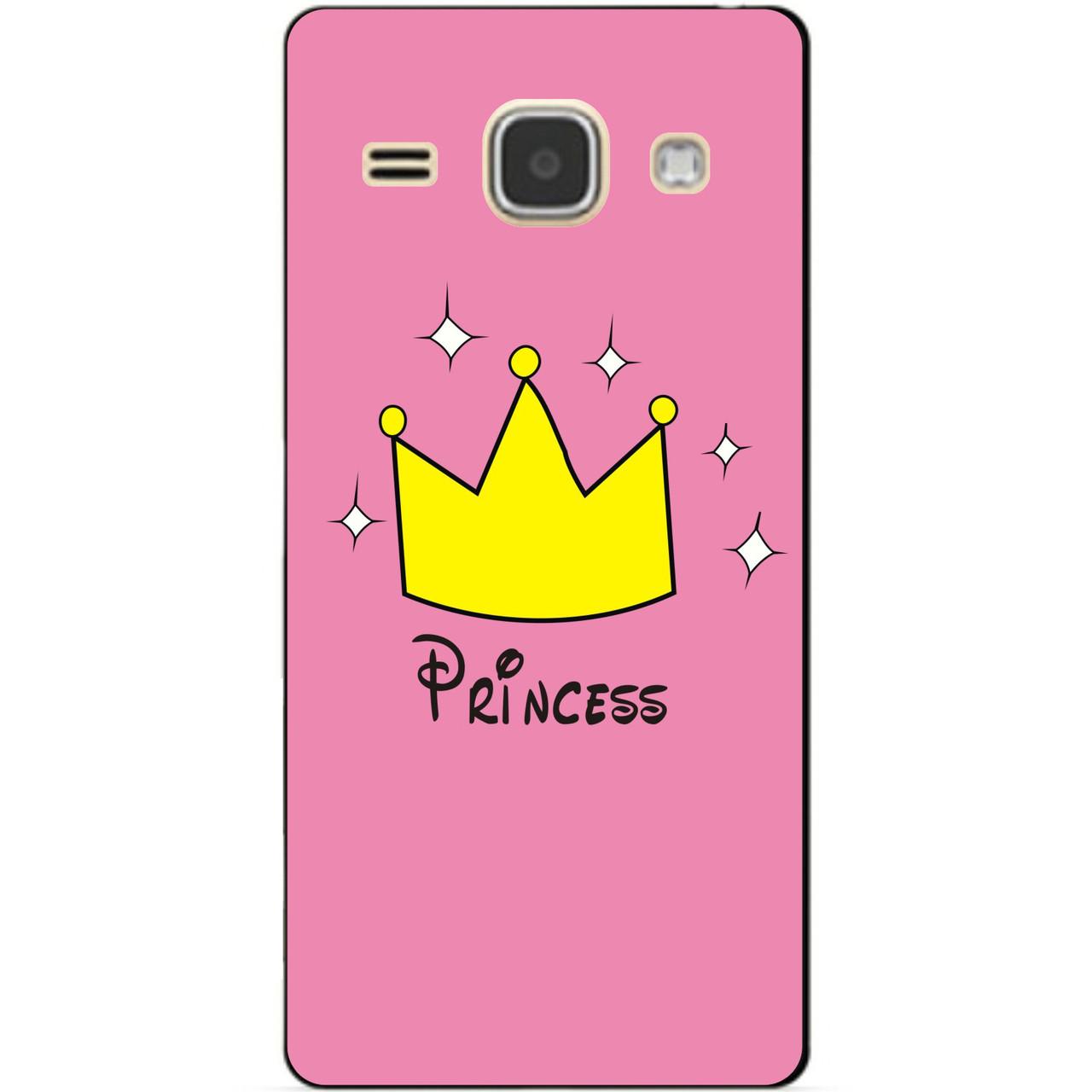 Чехол силиконовый бампер для Samsung J120 Galaxy J1-2016 с рисунком Принцесса
