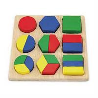 """Пазл частини фігур """"Форми-половинки"""", для вивчення геометричних фігур, 1+"""