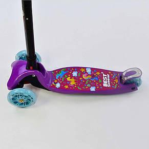 Самокат Best Scooter складная ручка c фарой, фото 3