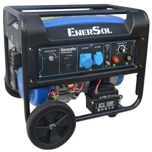 Бензиновый сварочный однофазный генератор 7.0 кВА EnerSol SWG-7E