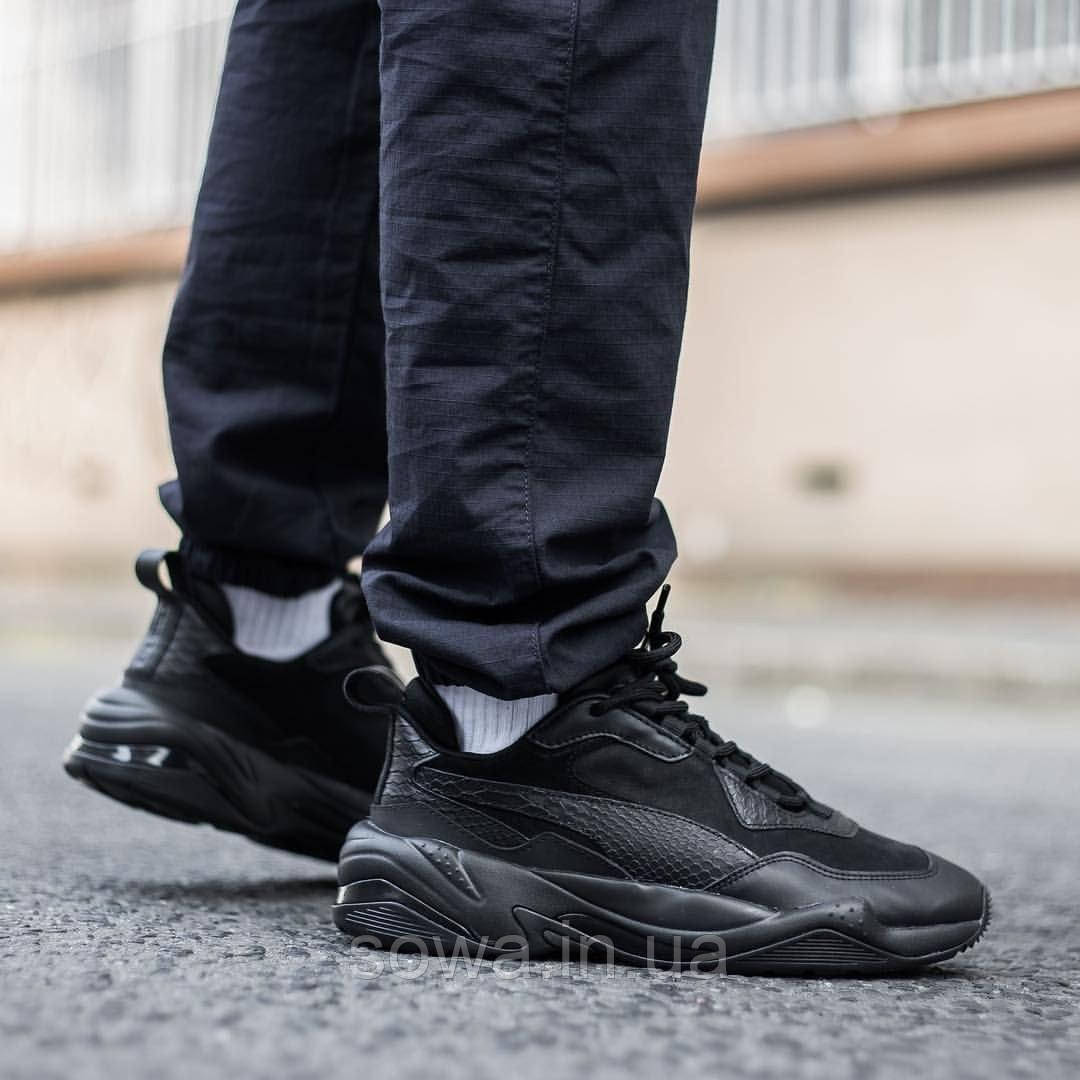 "✔️	Кроссовки Puma Thunder Desert ""Triple Black"""