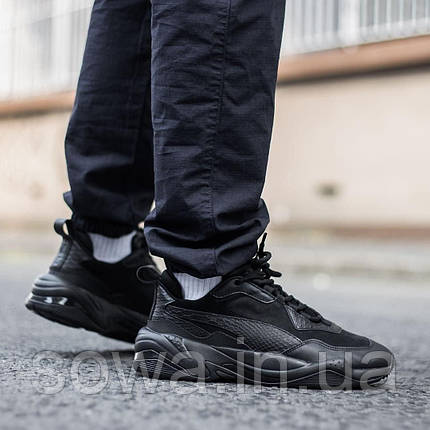 "✔️	Кроссовки Puma Thunder Desert ""Triple Black"" , фото 2"