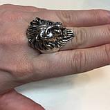 Лев красивое кольцо 21 размер со львом из тибетского серебра ЛЕВ, фото 3