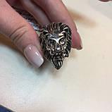 Лев красивое кольцо 21 размер со львом из тибетского серебра ЛЕВ, фото 2