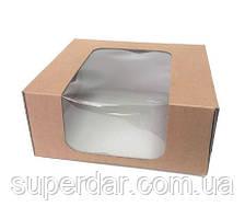 Коробка для торта 230Х230Х100 крафт