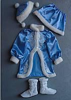 Карнавальный костюм Снегурочка №3 (голубой), фото 4