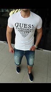 Летние мужские футболки Guess. Легкий, приятный к телу материал. Приталенный крой.  Размеры S-2XL