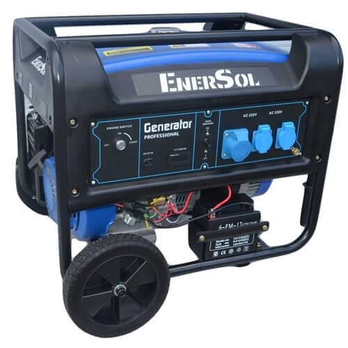 Бензиновый однофазный генератор мощностью 8 кВА с АВР EnerSol SG-8E(B)AS