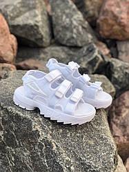 Женские сандалии FILA Disruptor SD All White (36, 37, 38, 39, 40 размеры)