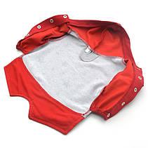Батник кофта для собак серый+красный №0 25 х 40 см, фото 2