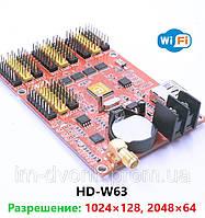 Контроллер HD-W63 LED дисплея монохромный Wi-Fi для изготовления бегущих строк, фото 1