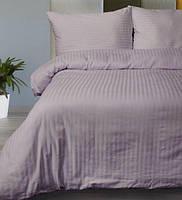 Полуторное постельное белье LOTUS ОТЕЛЬ страйп лиловый 1 см