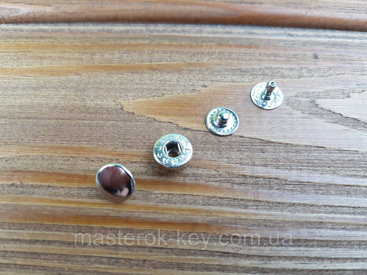 Кнопка металлическая Альфа 10мм. Турция цвет никель (50 шт в упаковке)