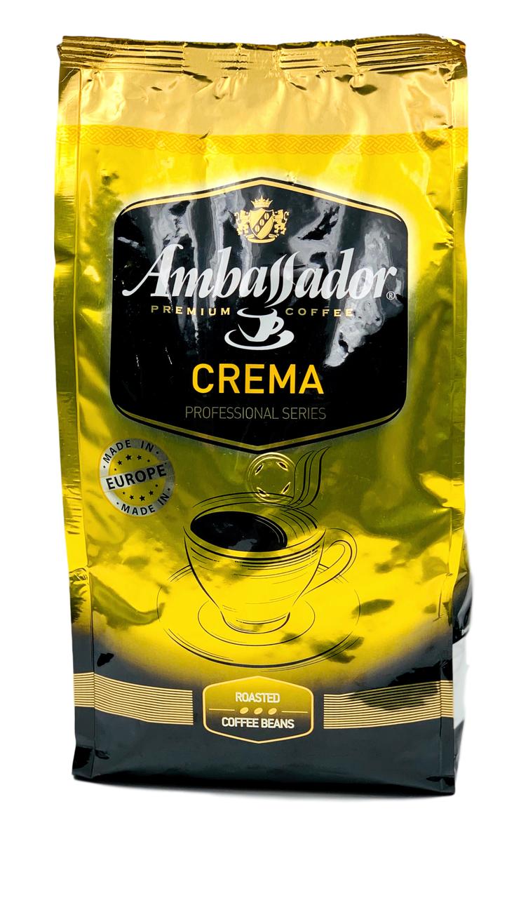 Кофе в зернах Ambassador Crema 1кг Польша