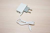 СЗУ microUsb + 2USB 2.1A  (без упаковки), фото 1