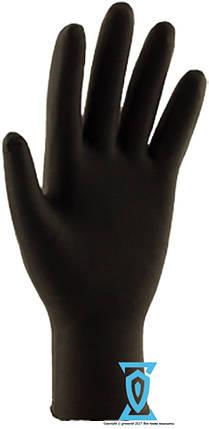 """Перчатки нитриловые чёрные """"Сare365"""" (M)  4.5 грамма, фото 2"""
