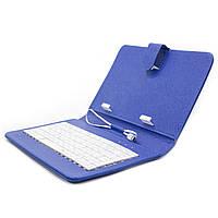 ➜Чехол с клавиатурой Lesko для планшета 7 дюймов Blue micro usb для планшетов электронных книг