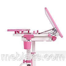 Растущая парта + стульчик для школьника Fundesk Lavoro Pink, фото 3