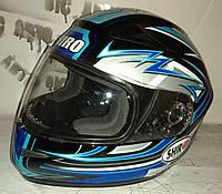 Шолом мотоциклетний SHIRO (синій), фото 1
