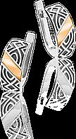 Серьги из серебра со вставкой золота Юрьев 45 с
