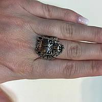 Волк кольцо с волком 17,5-18 размер из тибетского серебра, фото 1