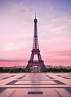 Фотообои 3D город 183х254 см Париж Эйфелева башня на закате (5028WG)