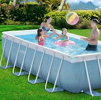 Каркасный бассейн для всей семьи.Каркасный бассейн прямоугольный.