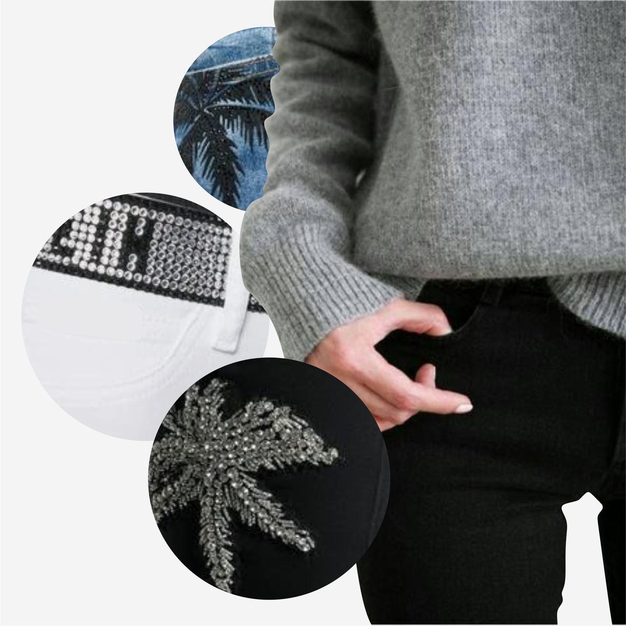 Подбор/Разработка дизайнов декора для женских брюк, джинс, шорт (фото в описании)