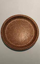 Плоска одноразова еко-тарілка Biotrem з висівок