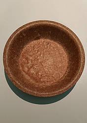 Глибока одноразова еко-тарілка Biotrem з висівок