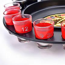 Алкогольная рулетка, на 16 рюмок, черный корпус, фото 2