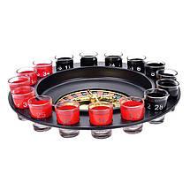 Алкогольная рулетка, на 16 рюмок, черный корпус, фото 3