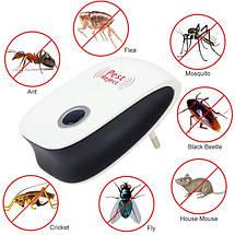 Ультразвуковой отпугиватель грызунов и насекомых Pest Reject Ultrasonic Электро магнитный, фото 3