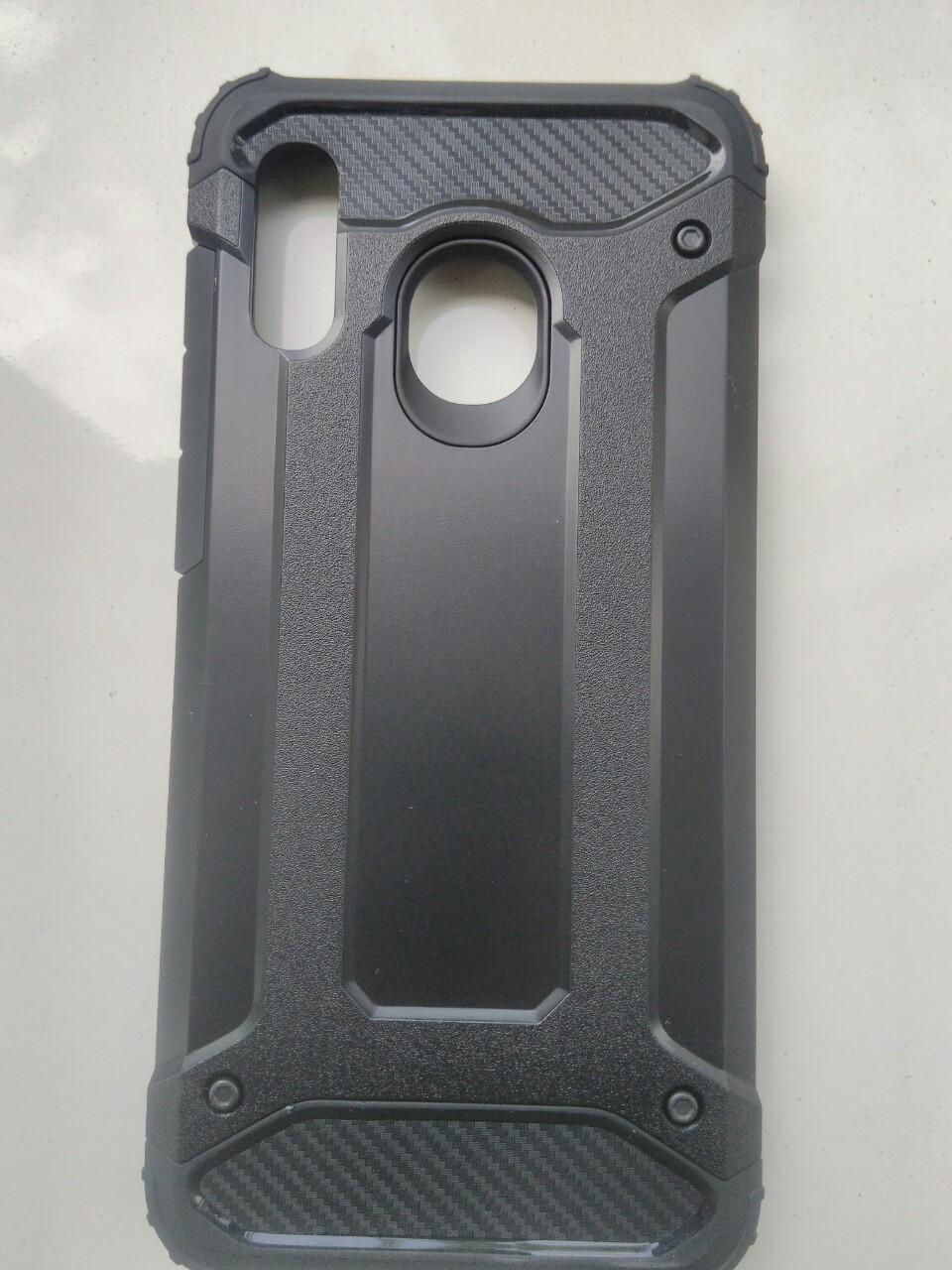 Чехол трансформер  противоударный Samsung A20 2019 / A30 2019  ( черный)