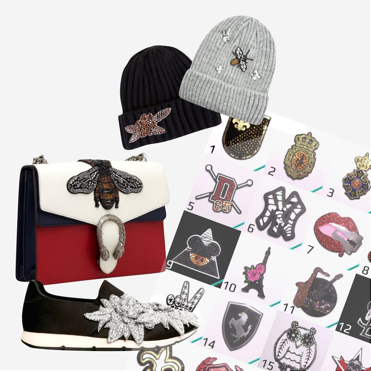 Подбор/Разработка дизайнов декора для женской обуви, сумок, шапок, аксессуаров (фото в описании)