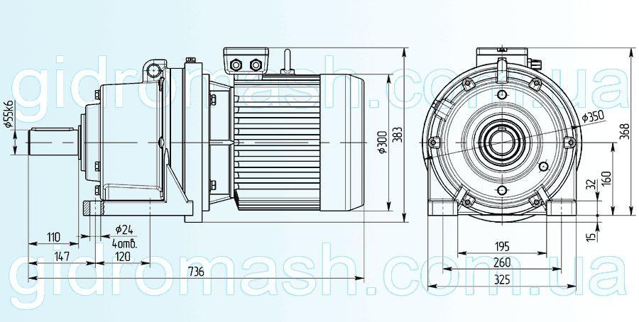 Планетарный мотор-редуктор 3МП-63