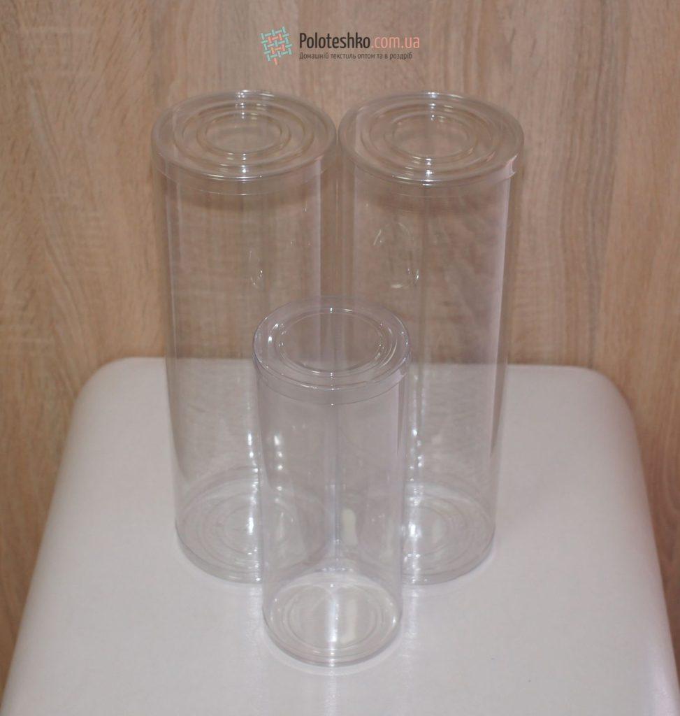 Подарочный пластиковый тубус 70х170 мм.