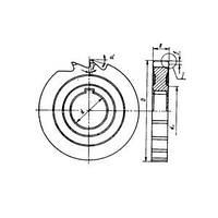 Фреза дисковая пазовая ф 80х3х22 мм Р6М5 ГОСТ 3964-69