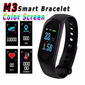 Фитнес браслет Mi Band M3 цветной экран, фитнес трекер, шагомер, пульсометр, давление крови, расход калорий