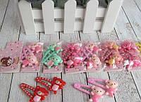 Дитячі заколочки тик-так з покриттям L 3,3 см Ведмедики 80076
