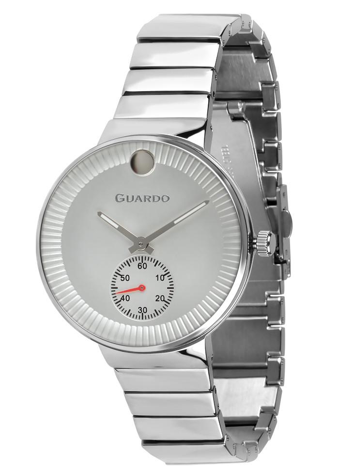 Годинники жіночі Guardo B01400-(2)-2 срібні